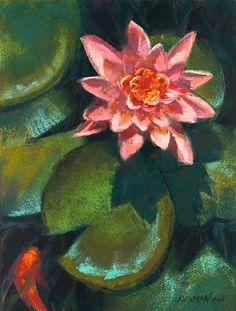 Koi #6 by Rita Kirkman Pastel