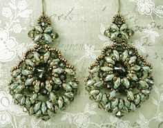 These earrings are very elaborate, and a little over-the-top, but I like them. I think they will be fun to wear with just the right outfi...