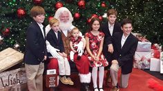 Brent, Parker, Camille, Rynne, Mitchell and Luke. Christmas 2015. My great-grandchildren with Santa.