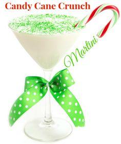 Candy Cane Crunch Martini (1.5 oz Vanilla rum 1.5 oz White chocolate liquor 1.5 oz Peppermint schnapps)