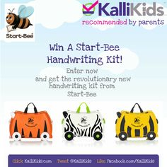 Your chance to get your hands on one of the first Start-Bee handwriting kits available in the UK.