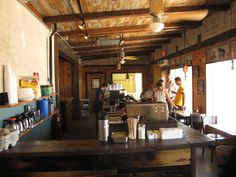 Crossroads Cafe: 61715 29 palms hwy, close to JT national park. Busy, casual, good food, breakfast or early dinner.