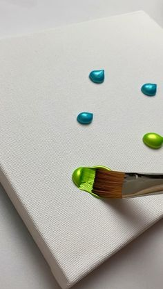 Canvas Painting Tutorials, Diy Canvas Art, Diy Painting, Simple Acrylic Paintings, Cool Paintings, Art Drawings Sketches Simple, Diy Art, Watch, Blue Green