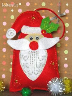 Felt Christmas Ornament Santa