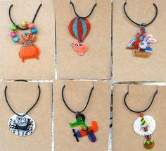 shrinky dink necklaces by joanneliuyunn, via Flickr