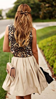 leopard looking feminine