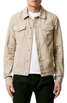 Free shipping and returns on Topman Denim Western Jacket at Nordstrom.com. A fresh, khaki-denim jacket modernizes your ensemble with stylish versatility that looks great against dark and light-colored pieces, while adhering to the traditional Western wear aesthetic.