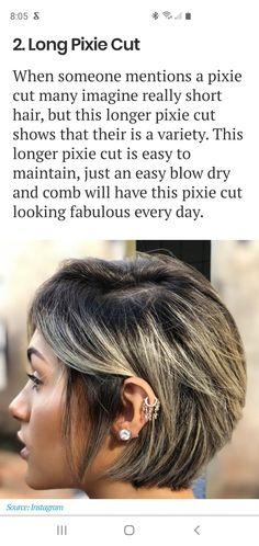 Long Pixie Cuts, Really Short Hair, Blow Dry, Short Hair Styles, Hair Cuts, Very Short Hair, Bob Styles, Haircuts, Short Cropped Hair