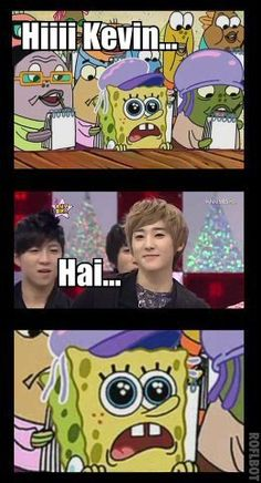This would SO be my reaction if Kevin Woo Seunghyun said hi to me. Guise seriously. *0* I mean its Kevin! He is like love! ^u^