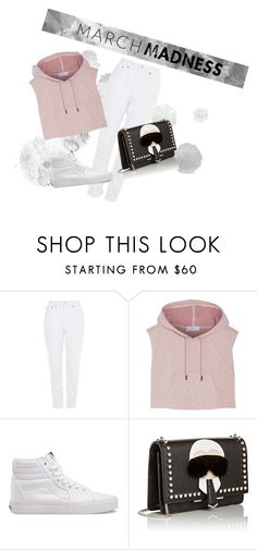 """#hoodies"" by liekejongman ❤ liked on Polyvore featuring Topshop, adidas, Vans and Fendi"