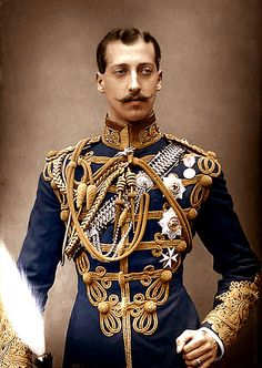 Albert Victor, Duke of Clarence Eldest son of Edward, Prince of Wales (Edward VII) in military uniform. English prince, grandson of Queen Victoria. Queen Victoria Husband, Military Dresses, Men In Uniform, Army Uniform, Military Uniforms, Historical Costume, Victoria S, Military Fashion, Vintage Men