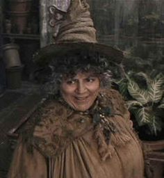 Pomona Sprout – The Harry Potter Lexicon Harry Potter Potions, Harry Potter Cast, Harry Potter Books, Harry Potter Universal, Harry Potter Characters, Harry Potter World, Harry Potter Professors, Character Costumes, Cosplay Characters