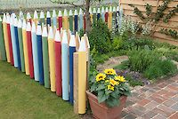 This picket fence looks like colored pencils and I just love it. This would make the perfect fence to section of a child's play area.