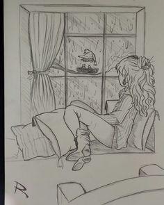 Disney Art Drawings Sketches Pencil Coloring 17 New Ideas Easy Pencil Drawings, Easy Drawings Sketches, Girl Drawing Sketches, Girly Drawings, Cool Art Drawings, Sketchbook Drawings, Drawing Ideas, Pencil Drawing Inspiration, Drawing Drawing