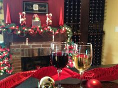 Getting ready for the holidays at the Village Wine Cellar.