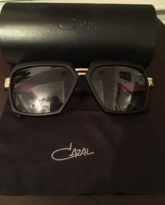 9c108118e06b Cazal Sunglasses (Men s Pre-owned Vintage Matte Black   Gold Designer Sun  Glasses)