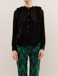Rachel Comey, Velvet Passenger Blouse, $426