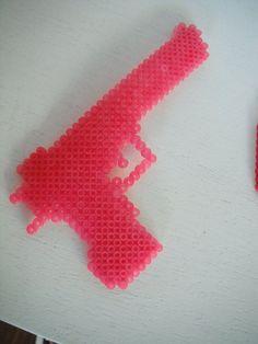 Pink Toy Gun - Perler Beads