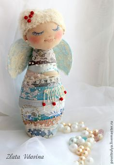 """Статуэтки ручной работы. Ярмарка Мастеров - ручная работа. Купить Интерьерная авторская текстильная игрушка """" Снежный ангел"""". Handmade."""