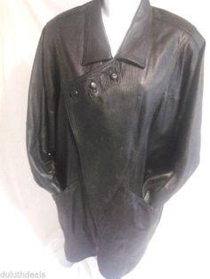 Women's Black Leather Jacket, Medium Size,  Unique Design    #Unbranded #BasicJacket