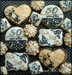 for a 50th anniversary www.facebook.com/sweetartsweets #cookies #sweetartsweets