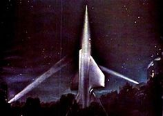Rocketship from Flight to New Movies, Movies And Tv Shows, Science Fiction, Classic Sci Fi Movies, Sci Fi Spaceships, Spaceship Design, Space Crafts, Sci Fi Fantasy, Fantastic Art