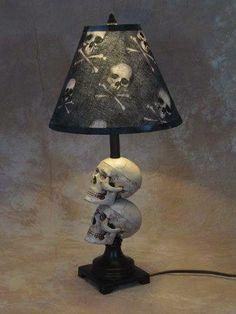 Details about Mini Skull Desk Lamp bone shade Halloween Prop Skulls - Everything SKULLS - Gothic Skull Decor, Skull Art, Skull Bedroom, Skull Furniture, Gothic Furniture, Desk Lamp, Table Lamp, Room Lamp, Halloween Prop