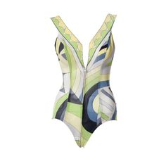 Terrific Pucci  one-piece.  I would wear this...maybe.  The plunge in the middle causes me to hesitate. Oh, well. :-P