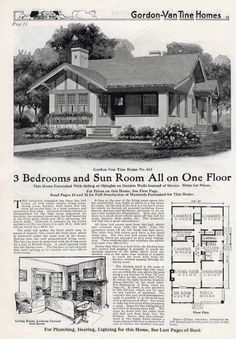 The #613 from my Gordon Van Tine 1926 catalog. What a pretty bungalow!  How lucky for Melbourne Fla to have one and they tore it down, unreal!
