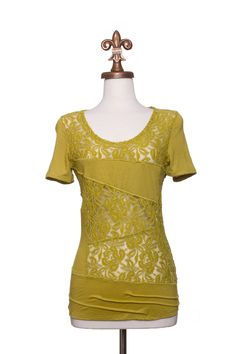Dressing Your Truth - Type 3 Avocado Lace Top
