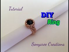 DIY Bazeled bead Ring 💍 with Only 11/0 seed beads - YouTube