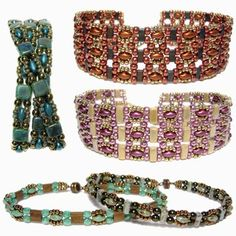 Free Seed Bead Patterns including Trestle Band Seed Bead Bracelet, Peyote Earrings with Fringe and Bugles, Crystals, Tila's, Oh My Necklace, along with videos on How to Make Hollow or Tubular Peyote Stitch, Simple Peyote Pattern and Chunky Seed Bead Bracelet.