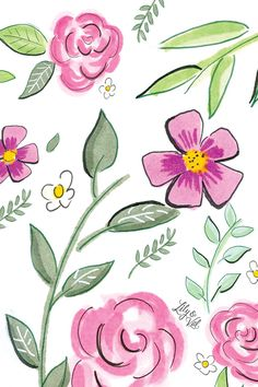 Pink Flowers iPhone Wallpaper Home Screen @PanPins