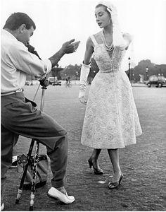 Bettina Graziani In Christian Dior, 1953 Photo By Regina Relang