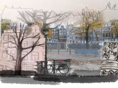 Photoshop montage of Amsterdam