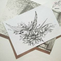 Lovely and cute swallow tattoo ideas in term of tattoos. See Also: 15 best ideas for makeup your body Source Source Source . Kunst Tattoos, Neue Tattoos, Body Art Tattoos, Tatoo Bird, Swallow Bird Tattoos, Bird Sketch, Flower Sketches, Bird Tattoo Sleeves, Sleeve Tattoos