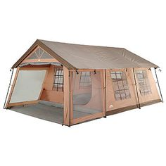 Prepare for the next camping adventure with this Family Tent. You can fit 10 people inside this family camping tent, and its roll-back fly makes it easy to get in or out. Take this Family Tent with you on your next camping trip. Tenda Camping, Camping Glamping, Outdoor Camping, Camping Hacks, Outdoor Gear, Camping Ideas, Kayak Camping, Camping Activities, Best Camping Gear