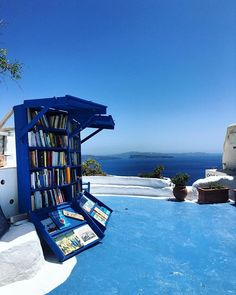 """Atlantis Books on Instagram: """"Our beautifully refurbished terrace is now open for the Season 💙🇬🇷 #trueblue"""" Greek Beauty, Spots, Club, Atlantis, Bookstagram, Terrace, Greece, Around The Worlds, Blue And White"""