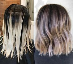 Melting lines and blowing minds ✌️ Best Ombre Hair, Brown Ombre Hair, Ombre Hair Color, Hair Color Balayage, Dark Roots Blonde Hair Balayage, Haircolor, Hair Lights, Light Hair, Dark Hair