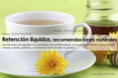 La retencion de liquidos, no constituye una enfermedad, y se puede controlar consumiendo cereza, sandia, banana, o verduras como el nabo y pepino.