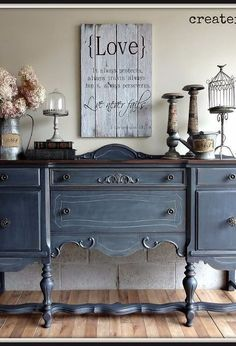 Beau Antique Buffet In Ash From Fusion Mineral Paint, Painted Furniture,  Repurposing Upcycling