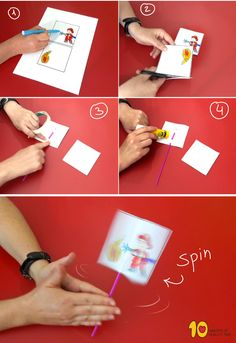 Fireman Putting Out Fire Optical Illusion Craft - Geburtstag Fireman Kids, Fireman Crafts, Firefighter Crafts, Optical Illusions For Kids, Art Optical, Preschool Crafts, Crafts For Kids, Safety Crafts, Paper Crafts Origami