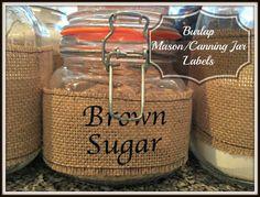 Burlap Canning Jar Labels