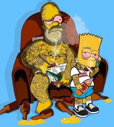 Father and son spending quality time together. Homer X Bart… Simpsons Tattoo, Simpsons Drawings, Simpsons Art, Dope Cartoons, Dope Cartoon Art, Graffiti Wallpaper, Cartoon Wallpaper, Gott Tattoos, Street Art