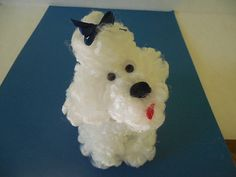New Retro Style White Chenille Poodle by MyPalPeppy on Etsy