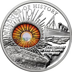 Cook Islands 10 Dollars Silver Coin 2011 100 Years of Titanic Disaster Windows of History Some historical events are so sad that th. Proof Coins, World Coins, Reptiles And Amphibians, Cook Islands, How To Get Rich, Coin Collecting, Silver Coins, Titanic, Stamp