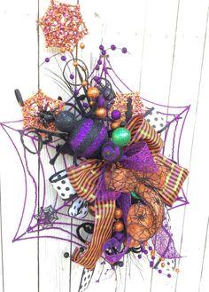 Spider Web wreath Halloween Wreath Halloween Spider by Keleas