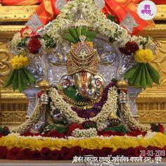 Shri Ganesh, Lord Ganesha, Ganpati Decoration At Home, Ganpati Festival, Indian Gods, Gods And Goddesses, Sky, Math, Heaven