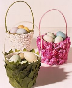 Going to check out the dollar store for ready made baskets and go to it with my hot glue gun