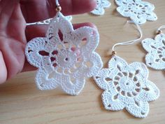 Items similar to Crochet snowflakes Christmas decorations set of 6 crochet snowflakes Christmas tree decorations close package. on Etsy Crochet Christmas Ornaments, Christmas Snowflakes, Christmas Bells, Christmas Tree Decorations, Handmade Ornaments, Winter Christmas, Vintage Christmas, Crochet Tree, Crochet Stars